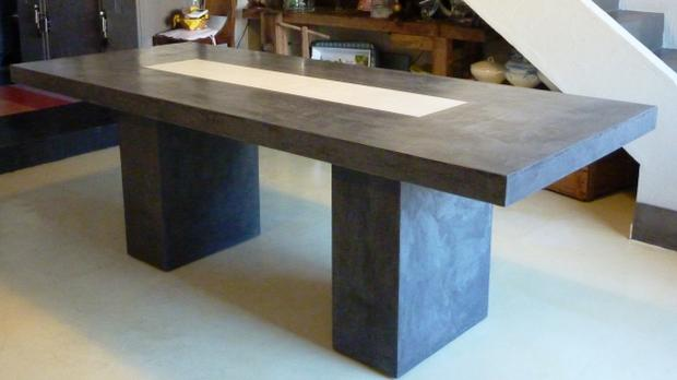 Table a manger beton sammlung von design for Dimension table a manger
